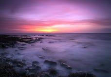 Por do sol de Burwick Imagem de Stock