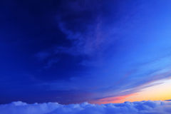 Por do sol de Cáucaso Imagens de Stock Royalty Free