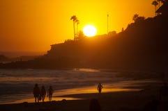 Por do sol de Califórnia Imagem de Stock Royalty Free