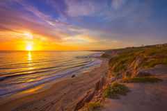 Por do sol de Califórnia fotos de stock royalty free