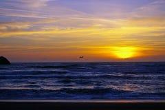Por do sol de Califórnia Imagem de Stock