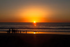 Por do sol de Callifornia em San Diego Fotos de Stock Royalty Free