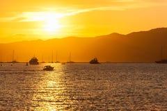 Por do sol de Cannes Imagens de Stock Royalty Free
