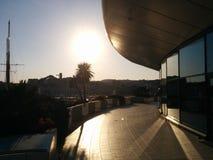 Por do sol de Cannes Fotos de Stock Royalty Free