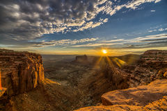 Por do sol de Canyonlands Fotos de Stock Royalty Free