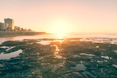 Por do sol de Cape Town Foto de Stock