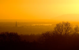 Por do sol de Chichester Fotografia de Stock Royalty Free