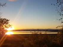Por do sol de Colorado Fotografia de Stock