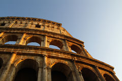 Por do sol de Colosseum Roma Fotografia de Stock Royalty Free
