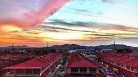 Por do sol de Colourfull Foto de Stock Royalty Free
