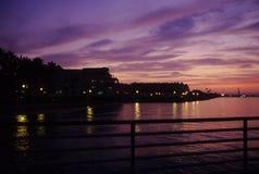 Por do sol de Coronado Imagens de Stock