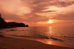 Por do sol de Costa Rica imagens de stock