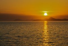 Por do sol de Dubrovnik Fotos de Stock Royalty Free
