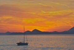 Por do sol de Dubrovnik imagem de stock royalty free