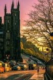 Por do sol de Edimburgo Fotografia de Stock Royalty Free