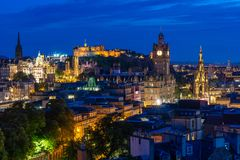 Por do sol de Edimburgo fotografia de stock royalty free