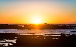 Por do sol de Essaouira, Marocco imagens de stock