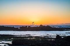 Por do sol de Essaouira, Marocco imagem de stock royalty free
