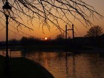 Por do sol de Exeter Foto de Stock Royalty Free