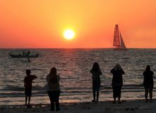 Por do sol de Florida imagens de stock