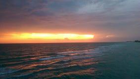 Por do sol de Florida fotografia de stock royalty free