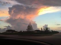 Por do sol de Florida Fotos de Stock