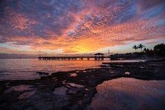 Por do sol de Florida Foto de Stock Royalty Free