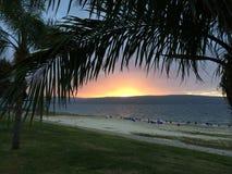 Por do sol de Galilee Imagens de Stock