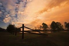 Por do sol de Geórgia fotografia de stock