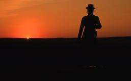 Por do sol de Gettysburg Fotos de Stock