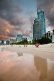 Por do sol de Gold Coast imagem de stock