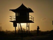 Por do sol de Gold Coast fotografia de stock royalty free