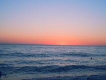 Por do sol de Grécia fotografia de stock