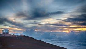 Por do sol de Haleakala Foto de Stock