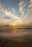 Por do sol de Ibiza Fotos de Stock Royalty Free