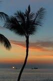 Por do sol de incandescência no lado de Kona Imagem de Stock Royalty Free