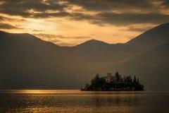 Por do sol de Isola di Loreto Imagem de Stock Royalty Free