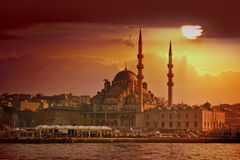 Por do sol de Istambul foto de stock royalty free