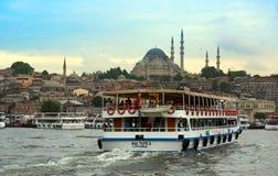 Por do sol de Istambul fotografia de stock royalty free