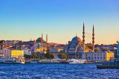 Por do sol de Istambul foto de stock