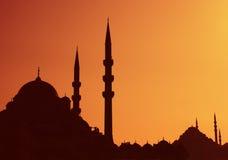 Por do sol de Istambul Imagens de Stock Royalty Free