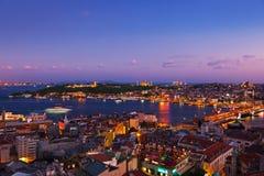 Por do sol de Istambul Imagem de Stock