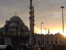 Por do sol de Istambul fotografia de stock