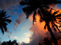 Por do sol de kerala Foto de Stock