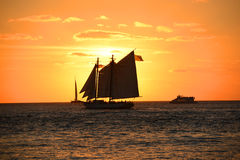 Por do sol de Key West Foto de Stock