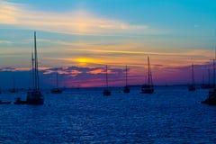 Por do sol de Key West Fotografia de Stock