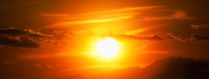 Por do sol de Kosovo Prizren Fotografia de Stock
