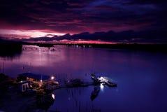 Por do sol de Kota Kinabalu Foto de Stock