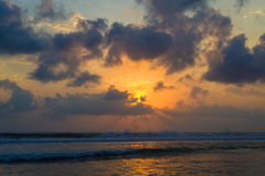 Por do sol de Kuta Fotos de Stock