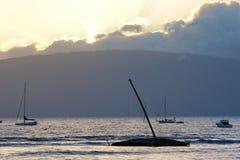 Por do sol de Lahaina Fotografia de Stock Royalty Free